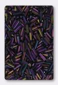 Miyuki bugle 6 mm purple iris x10g