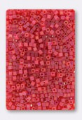 Miyuki Square beads 1.8 mm SB-0140FR Matt light red AB x10g