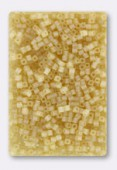 Miyuki Square beads 1.8 mm SB-0132FR Matt transp light topaz x10g