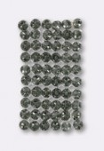 Crystal Mesh 40001 6x10 rangs 28x17 mm silver black diamond x1
