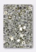 Miyuki square beads 4 mm SB-1051 galvanized silver x20g