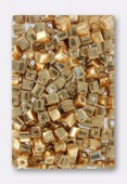 Miyuki square beads 4 mm SB-1053 galvanized yellow gold x20g