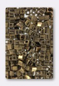 Miyuki square beads 4 mm SB-0457 metallic dark bronze x20g