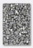 Miyuki Half Tila Beads HTL-1865 opaque smoke grey luster x10g