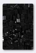 Miyuki Tila Beads TL401 black x10g