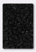 Miyuki Half Tila Beads HTL-0401F black matted x10g
