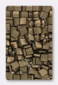 Miyuki Tila Beads TL2006 matted metallic dark bronze x10g