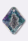 Pendentif Growing crystal Rhombus 6926 26 mm crystal vitrail light x1