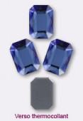 Strass HOTFIX Emerald cut 2602 14x10 mm sapphire M HF x1
