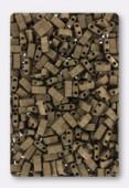 Miyuki Half Tila Beads HTL-2006 metallic dark bronze matted x10g