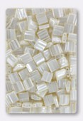 Miyuki Tila Beads TL0592 antique ivory pearl ceylon x10g