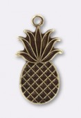 Estampe breloque ananas 15x9 mm bronze x1