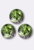 Ronde craquelée 10 mm purple green AB x1