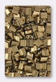 Miyuki Tila Beads TL0457 metallic dark bronze x10g
