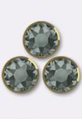 Strass 2088/I SS20 5 mm black diamond dorado F x24