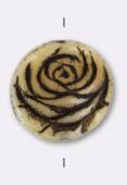 Palet rond rose 17 mm beige x1