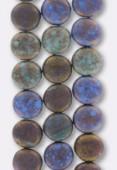 Palet rond 10 mm mix green blue bronze matte x4