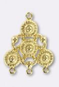 Estampe chandelier antique 30x25 mm or x1