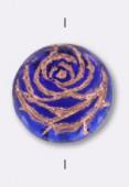 Palet rond rose 17 mm bleu cobalt x1