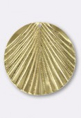 Estampe pendentif feuille 30 mm or x1