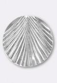 Estampe pendentif feuille 30 mm argent x1