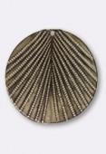 Estampe pendentif feuille 30 mm bronze x1