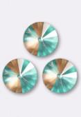 Cabochon rivoli 1122 12 mm crystal cappuccino DeLite x1