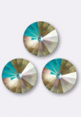 Cabochon rivoli 1122 12 mm crystal army green DeLite x1