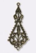 Estampe chandelier 55x25 mm bronze x1