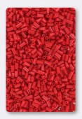 Miyuki bugle 3 mm opaque red x10g