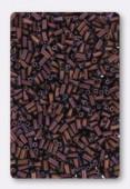 Miyuki bugle 3 mm matte metallic dark rasp x10g