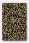 Miyuki bugle 3 mm matte metallic dark bronze x10g