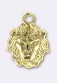 Estampe breloque tête de lion 10x8mm or x1
