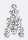 Estampe chandelier 20x12 mm argent x1