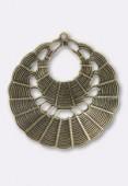 Estampe pendentif double natté 35 mm bronze x1