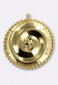 Estampe pendentif spirale 32 mm or x1