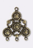 Estampe chandelier antique 30x25 mm bronze x1