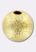 Perle en laiton ronde stardust 10 mm or x2