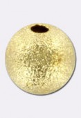 Perle en laiton ronde stardust 12 mm or x1