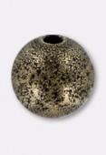 Perle en laiton ronde stardust 8 mm bronze x2