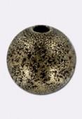 Perle en laiton ronde stardust 10 mm bronze x2