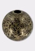 Perle en laiton ronde stardust 12 mm bronze x1