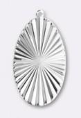 Estampe pendentif Versailles 45x27 mm argent x1