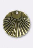 Estampe sequin palme 20 mm bronze x1