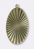 Estampe pendentif Versailles 45x27 mm bronze x1