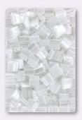 Miyuki Tila Beads TL-0420 white pearl ceylon x10g