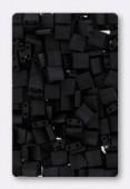 Miyuki Tila Beads TL-0401F matted black x10g