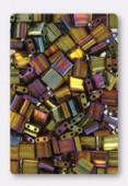 Miyuki Tila Beads TL-0462 metallic gold iris x10g