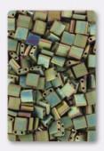 Miyuki Tila Beads TL-2035 matted metallic khaki iris x10g