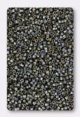 Miyuki Delica 11/0 DB0026 metallic black luster x10g